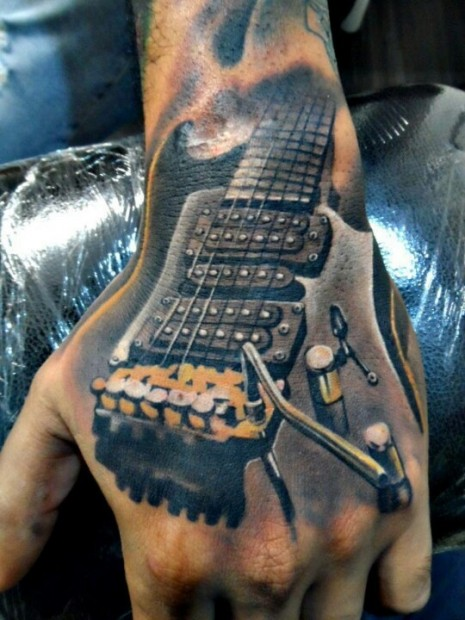 guitar music tattoos design (7)
